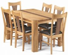 Colby American White Oak & Walnut Dining Table